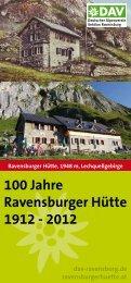 100 Jahre Ravensburger Hütte