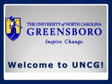 Campus Tour (.pdf) - The University of North Carolina at Greensboro