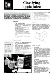 Clarifying apple juice - National Centre for Biotechnology Education