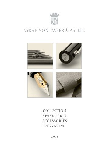 collection spare parts accessories engraving 2011 - Faber Castell