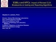ESBLs and KPCs - SWACM