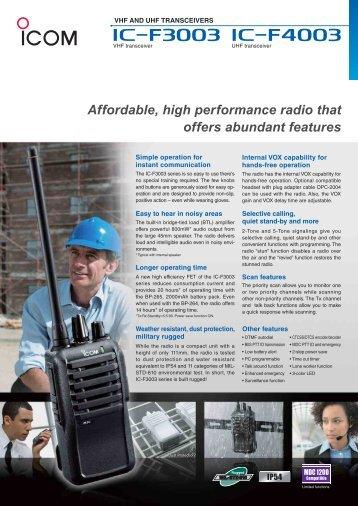 PDF Brochure - Icom Australia