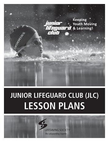 Junior lifeguard club (jlc) lesson plans - Lifesaving Society