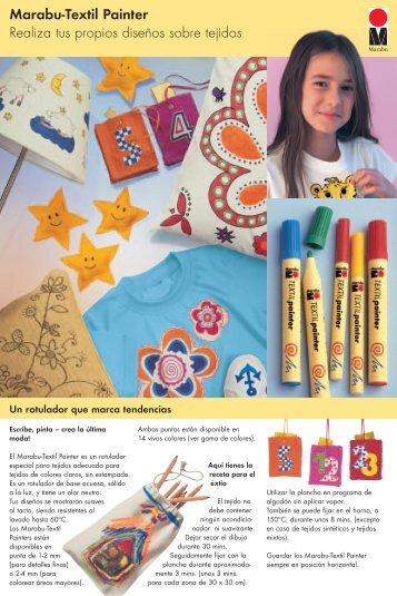 Marabu-Textil Painter Realiza tus propios diseños  sobre tejidos