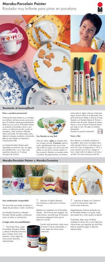 Marabu-Porcelain Painter Rotulador muy brillante  para pintar en ...