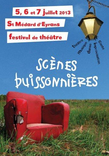 Télécharger le programme au format PDF - Scènes Buissonnières
