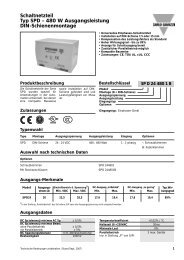 Schaltnetzteil Typ SPD – 480 W Ausgangsleistung DIN ...