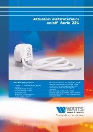 Attuatori elettrotermici on/off Serie 22C - WATTS industries