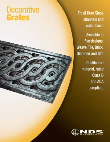 Dura Slope Decorative Grates - NDS