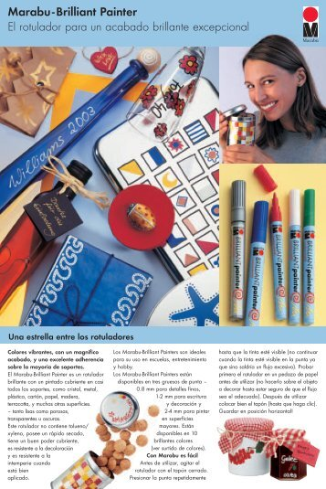 Marabu-Brilliant Painter El rotulador para un acabado brillante ...
