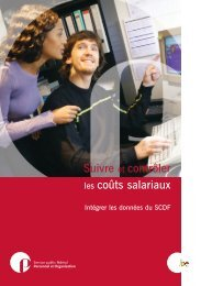 Brochure Couts Salariaux (F) - Fedweb