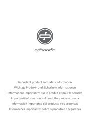 Important Product and Safety Information - GoBandit