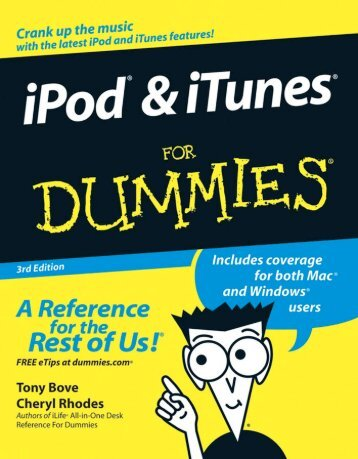 IPod & ITunes for Dummies {3Rd Ed. /} - Monkey Max Music and File ...