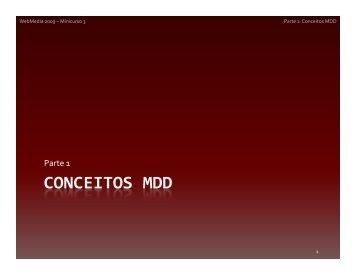 CONCEITOS MDD