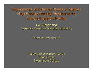 Pre-colloquium talk - Astronomy at Swarthmore College