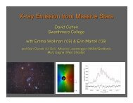 X-ray Emission from Massive Stars - Astronomy at Swarthmore ...