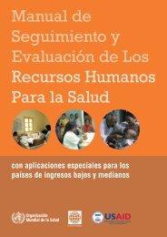Manual de Seguimiento y Evaluación de Los ... - libdoc.who.int
