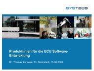 fü C S f Produktlinien für die ECU Software- Entwicklung