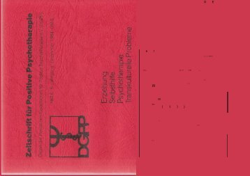 Heft 6 komplett - Positive und Transkulturelle Psychotherapie