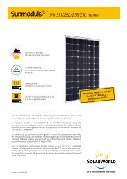 Sunmodules Plus SW 265-280 mono - SolarWorld