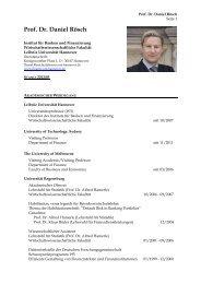 Prof. Dr. Daniel Rösch - Institut für Banken und Finanzierung ...