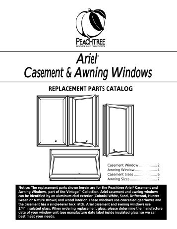 ARIEL CASE & AWN - Peachtree Doors and Windows