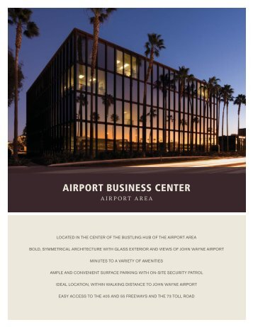 Airport Business Center Brochure - IrvineCompanyOffice.com