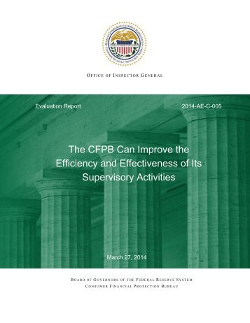 CFPB-Supervisory-Activities-Mar2014