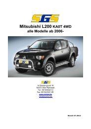 L200 Typ KA0T ab Bj. 04/2006 - SGS