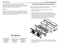 TX3 Speaker Replacement Instructions - Mircom