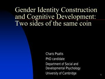 Gender Identity Construction and Cognitive Development: Two sides ...