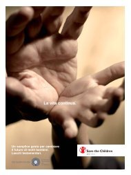 La vita continua. - Save the Children Italia Onlus