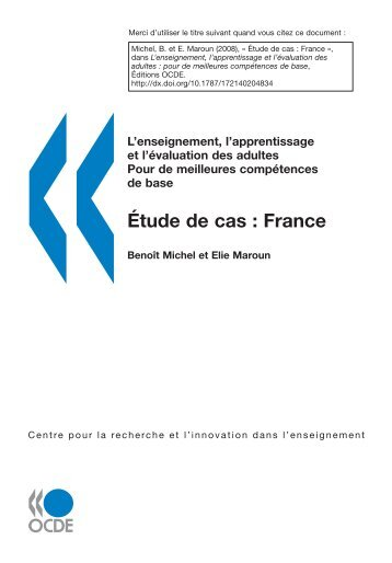 Étude de cas : France - Organisation for Economic Co-operation and ...