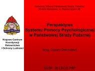 System Pomocy Psychologicznej w PSP - Komenda Główna ...