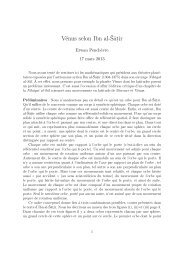 Vénus selon Ibn al-Šāṭir - Erwan PENCHEVRE