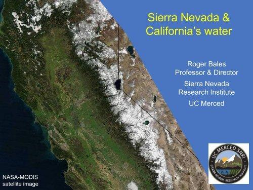 Sierra Nevada Californias Water