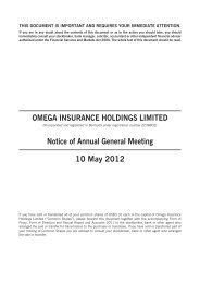 Notice of Annual General Meeting 10 May 2012 - Omega