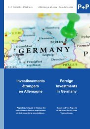 Investissements étrangers en Allemagne Foreign Investments in ...