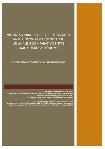 visiones y prácticas del profesorado ante el programa escuela 2.0 ...
