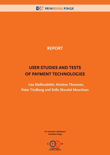 Future of Money - Report user studies and tests