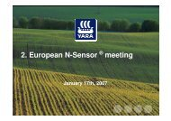 2. European N-Sensor meeting