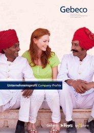 Unternehmensprofil Company Profile - Gebeco GmbH & Co KG