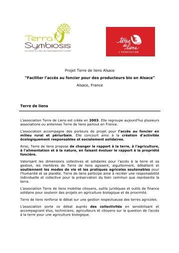 Téléchargez le PDF Terre de Liens Alsace pour - Terra Symbiosis