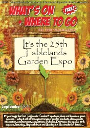 It's the 25th Tablelands Garden Expo - What's On Where to Go
