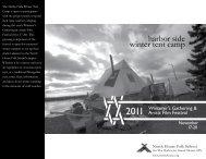 harbor side winter tent camp - North House Folk School