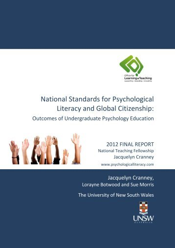 national standards for psychological literacy and global citizenship
