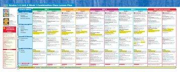 Grades 1–2 Unit 4 Week 1 Combination Class Lesson ... - Treasures