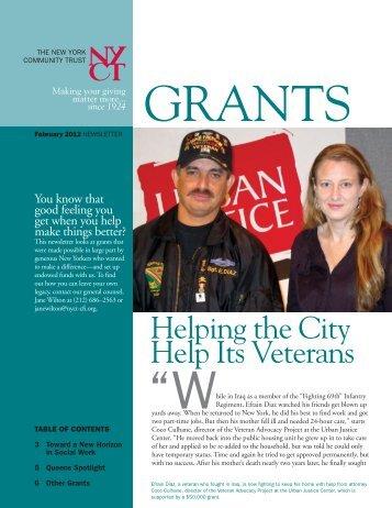 February 2012 Newsletter - The New York Community Trust