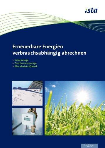 Erneuerbare Energien verbrauchsabhängig abrechnen