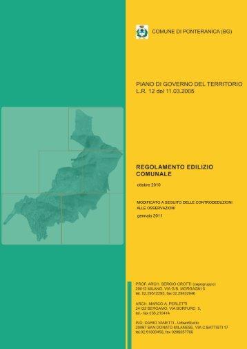 Comune di Ponteranica (BG) - Regolamento Edilizio